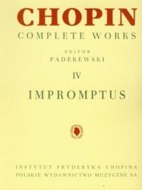Chopin. Complete Works. Tom 4. - okładka książki