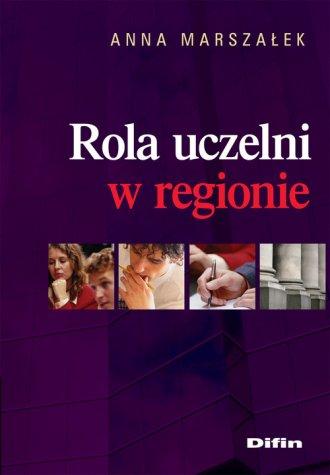 Rola uczelni w regionie - okładka książki