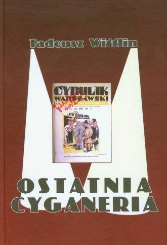 Ostatnia cyganeria - okładka książki