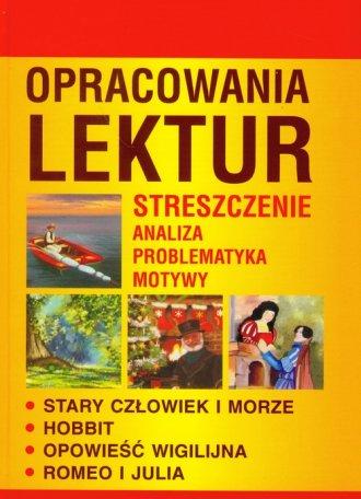 Opracowania lektur - okładka podręcznika
