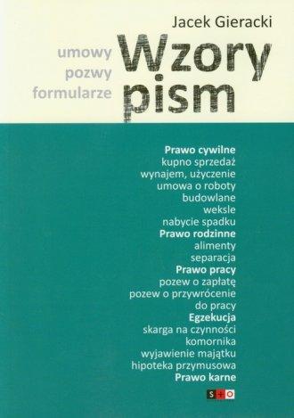 Wzory pism - okładka książki