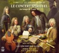 Le Concert Spirituel au temps de Louis XV - okładka płyty