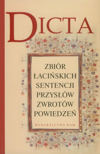 Dicta. Zbiór łacińskich sentencji, - okładka książki