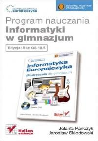 Informatyka Europejczyka. Program nauczania informatyki w gimnazjum. Edycja Mac OS 10.5 - okładka książki