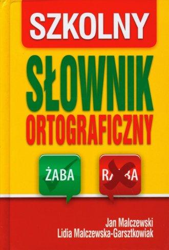 Szkolny słownik ortograficzny - okładka książki