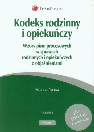 Kodeks rodzinny i opiekuńczy (+ - okładka książki