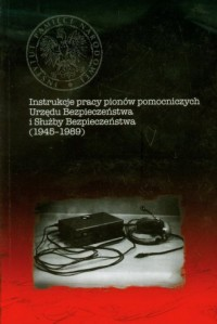 Instrukcje pracy pionów pomocniczych - okładka książki