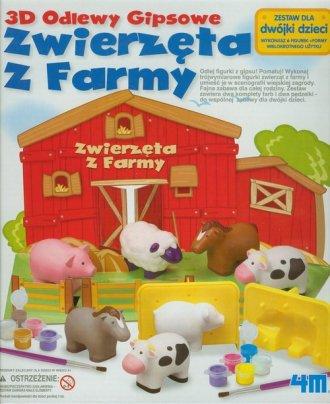 Zwierzęta z Farmy. 3D Odlewy gipsowe - zdjęcie zabawki, gry