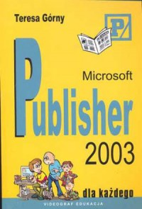 Microsoft Publisher 2003 - okładka książki