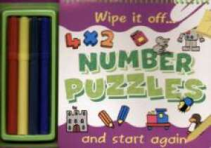 Wipe it off... Number puzzles - okładka książki