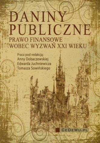 Daniny publiczne - okładka książki