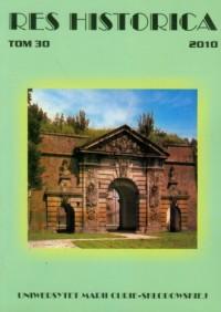 Res Historica. Tom 30 (2010) - okładka książki