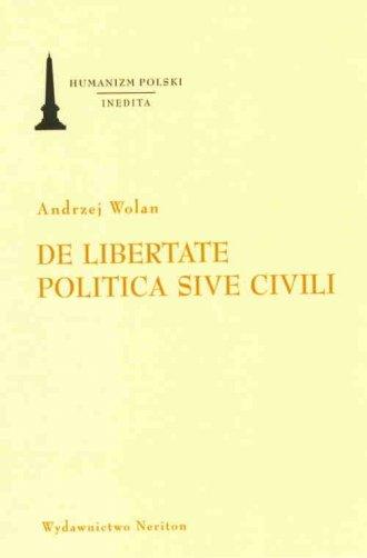 De libertate politica sive civili - okładka książki