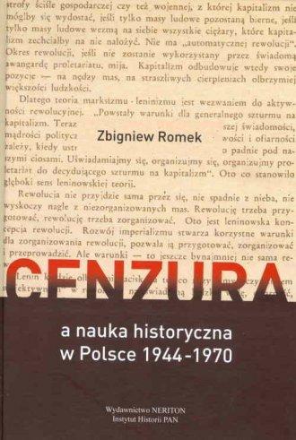Cenzura a nauka historyczna w Polsce - okładka książki