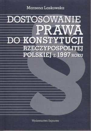 Dostosowanie prawa do Konstytucji - okładka książki