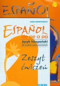 Espanol de pe a pa 2. Język hiszpański Podręcznik. Zeszyt ćwiczeń (+ CD) - okładka podręcznika