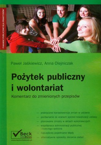 Pożytek publiczny i wolontariat - okładka książki