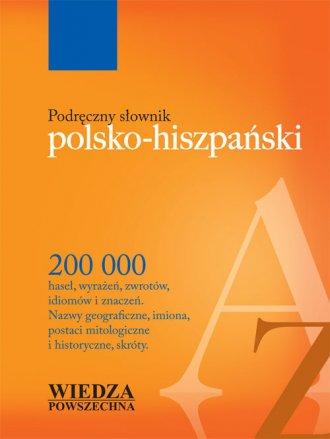 Podręczny słownik polsko-hiszpański - okładka książki