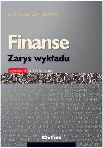 Finanse. Zarys wykładu - okładka książki