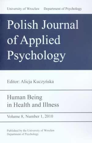 Polish Journal of Applied Psychology. - okładka książki