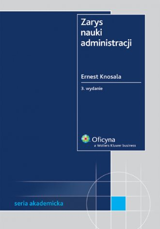 Zarys nauki administracji - okładka książki