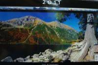 Kalendarz Tatry w panoramie 2011 - okładka książki