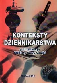 Konteksty dziennikarstwa - okładka książki