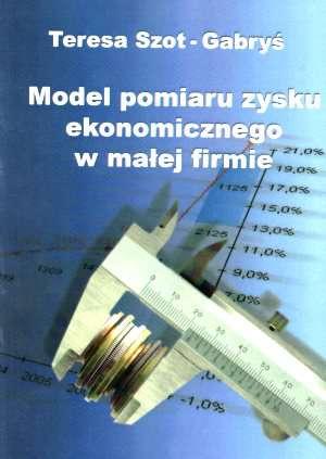 Model pomiaru zysku ekonomicznego - okładka książki