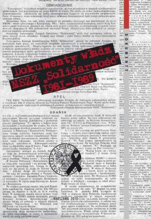 Dokumenty władz NSZZ Solidarność - okładka książki