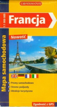 Francja (mapa samochodowa) - okładka książki