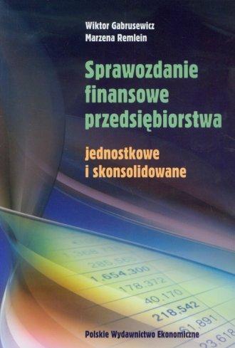 Sprawozdanie finansowe przedsiębiorstwa - okładka książki