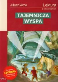 Tajemnicza wyspa. Lektura z opracowaniem - okładka podręcznika