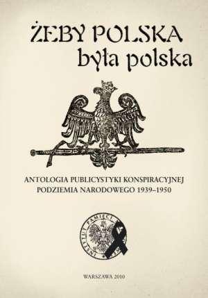 Żeby Polska była polska. Antologia - okładka książki