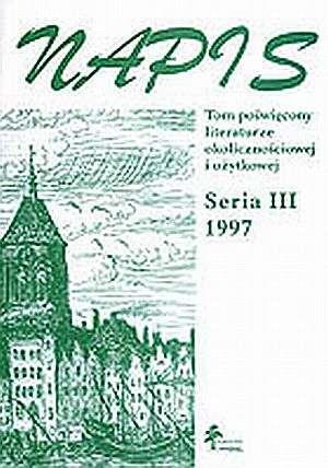 Napis. Seria III. 1997. Tom poświęcony - okładka książki