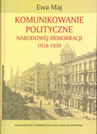 Komunikowanie polityczne Narodowej - okładka książki