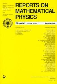 Reports on Mathematical Physics 66/3 2010 Kraj - okładka książki