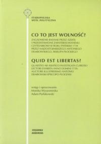 Co to jest wolność? (Quid est libertas?) - okładka książki