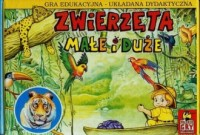 Zwierzęta małe i duże (układanka planszowa dla dzieci - 48 elem.) - zdjęcie zabawki, gry
