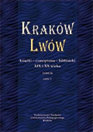 Kraków-Lwów. Książki, czasopisma, - okładka książki