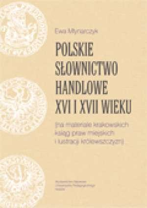 Polskie słownictwo handlowe XVI - okładka książki