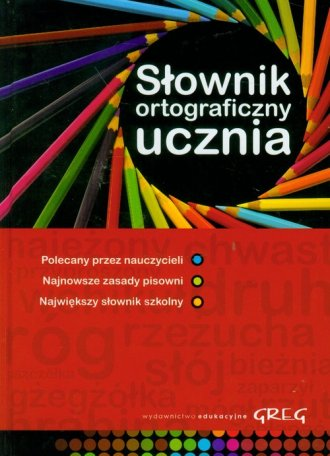 Słownk ortograficzny ucznia - okładka książki