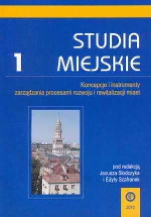 Studia Miejskie. Tom 1. Koncepcje - okładka książki