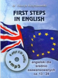 First Steps in English cz. 13-24 (6 CD-Audio +CD-MP3) - okładka podręcznika