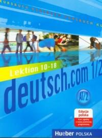 Deutsch.com 1/2 - okładka podręcznika