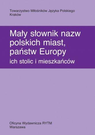 Mały słownik nazw polskich miast, - okładka książki