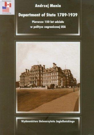 Department of State 1789-1939 Pierwsze - okładka książki
