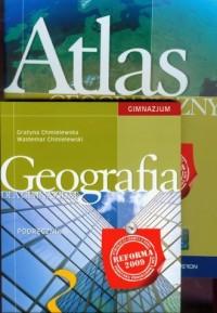 Geografia. Klasa 3. Gimnazjum. Podręcznik (+ atlas) - okładka podręcznika
