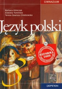 Język polski. Klasa 3. Gimnazjum. - okładka podręcznika
