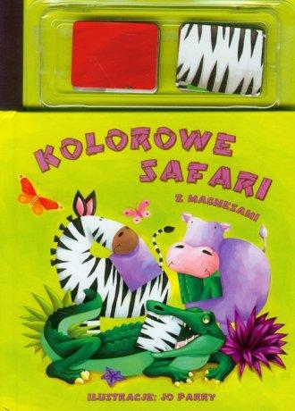 Kolorowe safari z magnesami - okładka książki