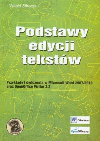 Podstawy edycji tekstów - okładka książki
